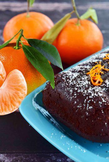 Gâteau au chocolat noir corsé et zestes de Clémentine (de Corse!)