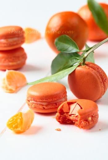 Macarons à la clémentine de Corse de PureGourmandise