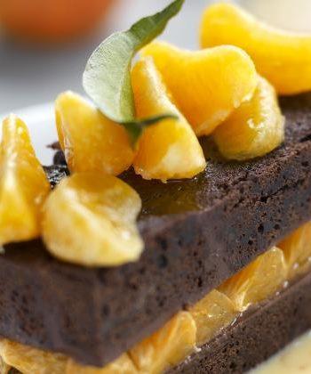 Fondant aux clémentines de Corse IGP et chocolat intense